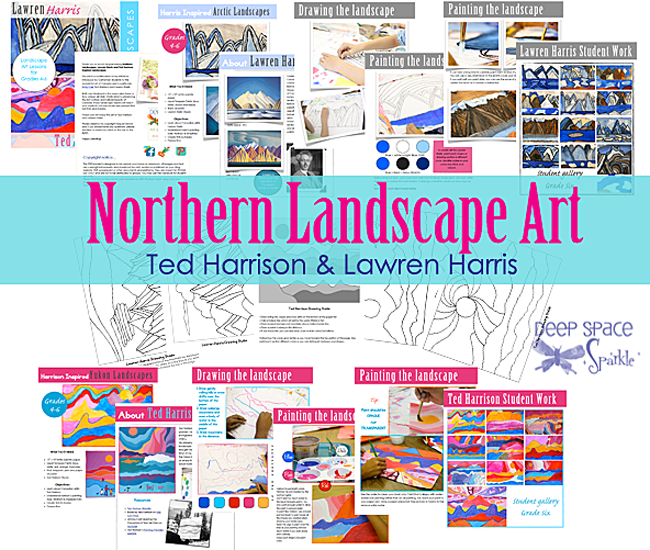 Northern Landscapes Art lesson Plans Preview