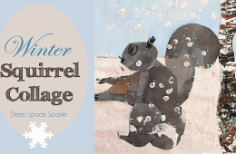 Winter Squirrel Art Project
