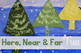 Book Review & Here, Near & Far Winter Trees Lesson