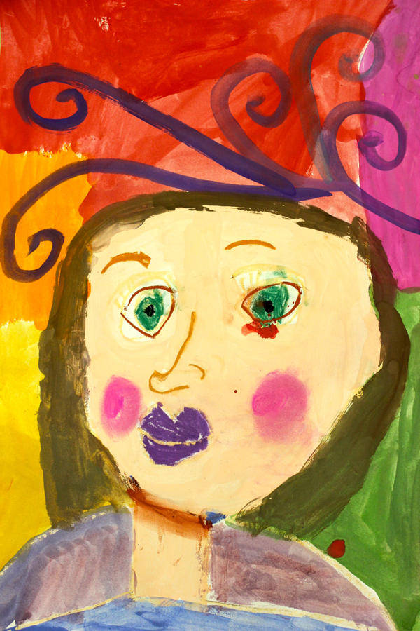 "Inside the Kinder art room: Portraits ""Little Miss Creative"""