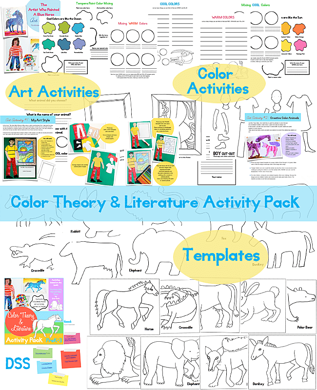 What's inside DSS's Color Theory and Literature Activity pack.