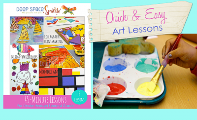 Easy-art-lessons-in-under-45-minutes | Deep Space Sparkle