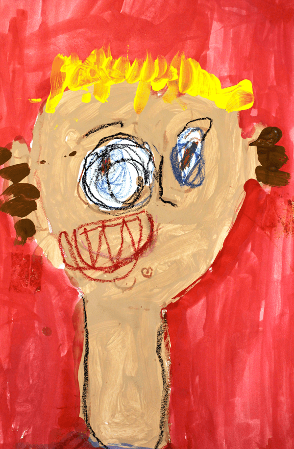 Inside the Kinder art room: Portraits