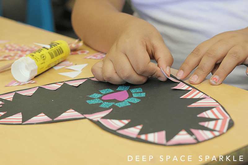 How to make mosaic hearts: Valentine's day art project