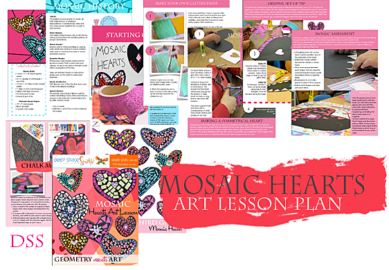Mosaic Hearts: Art meets math in this Valentine's Day Art and Craft Activity
