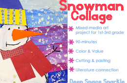 Snowman Collage Project