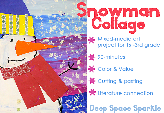 Snowman-collage-project