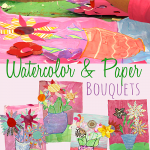 Watercolor & Paper Bouquet: Perfect Valentine's Day art and craft project for kids