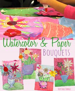 Watercolor & Paper Bouquets