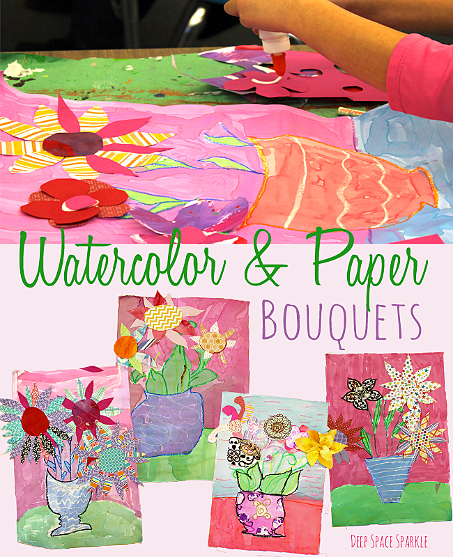 Watercolor & Paper Bouquets