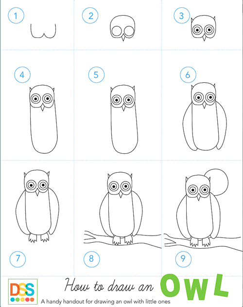 Search results for owl deep space sparkle for Draw an owl in two steps