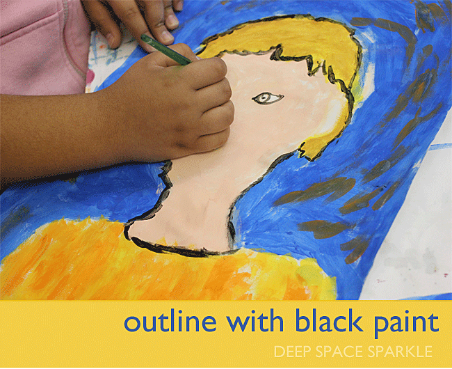 Paint like Van Gogh! Portrait project for kids