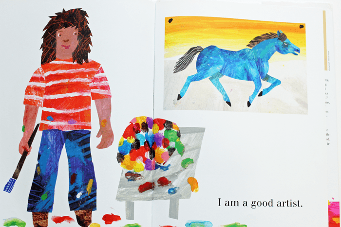 The Artist Who Painted a Blue Horse is my first literature pick for My DSS Activity Packs.