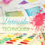 Children experiment with watercolor techniques. From DSS