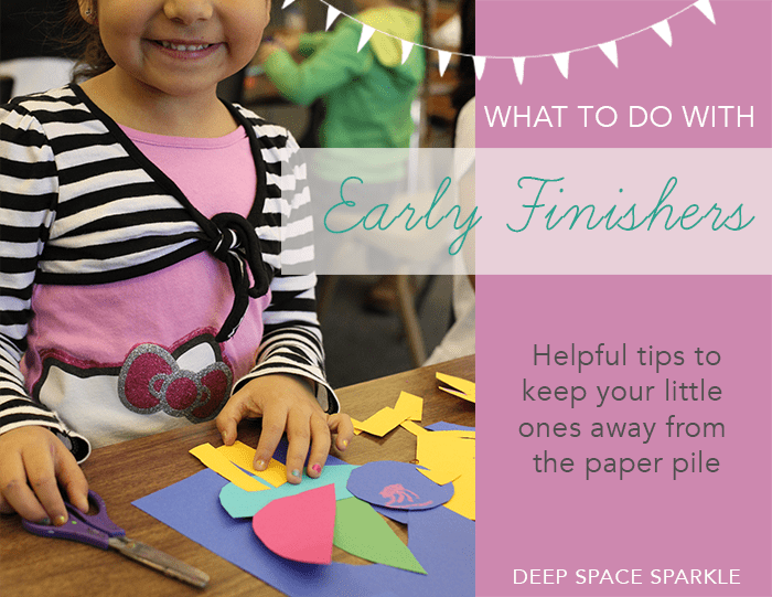 What to do with early finishers in the art room