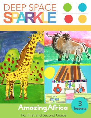 Amazing Africa Art Lessons from Deep Space Sparkle