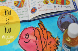 You Be You Watercolor Fish Art Project