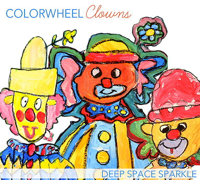 How to teach COLOR to kids: Colorwheel Clown Art Project