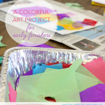 Easy tissue paper art project