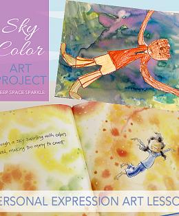 Sky Color Expressive Art Project