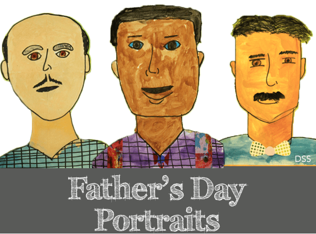 Father's Day Portraits Art project