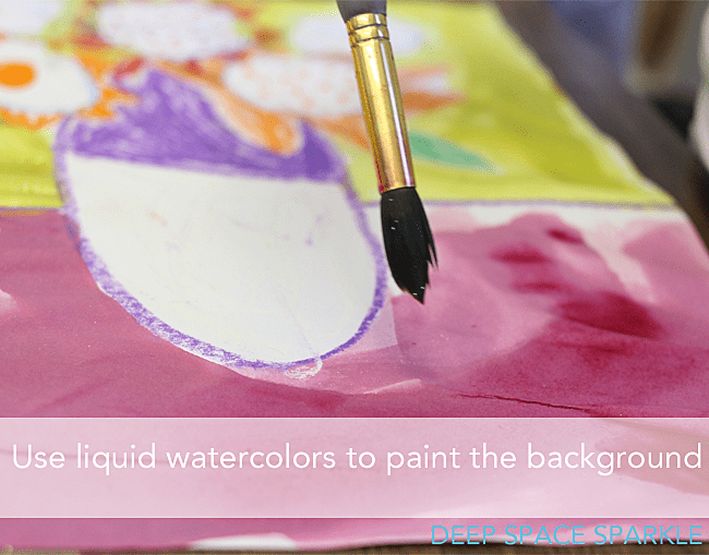 Painting with liquid watercolors