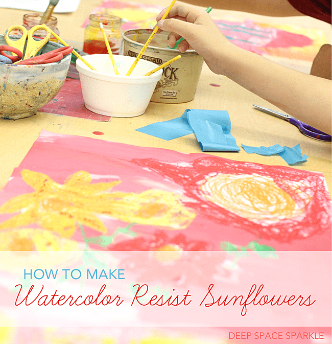 How to make a sunflower watercolor painting