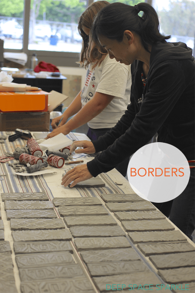 MAKING-BORDERS-FOR-A-CERAMIC-TILE-MURAL