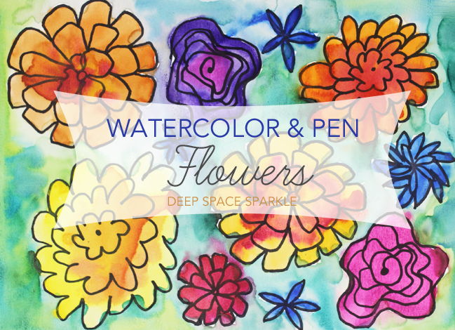 Pen-and-watercolor-flower-project
