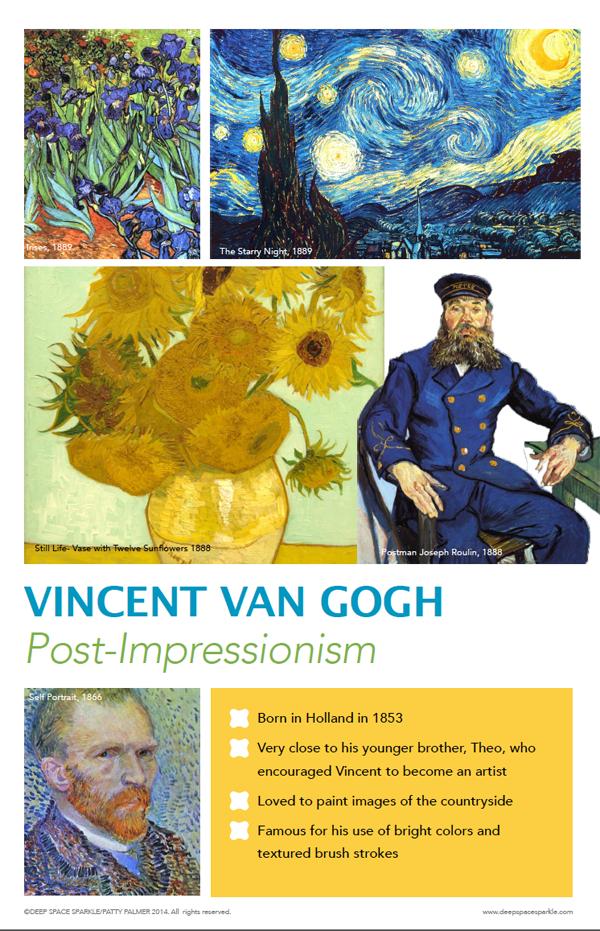 Van Gogh Art Poster | Deep Space Sparkle