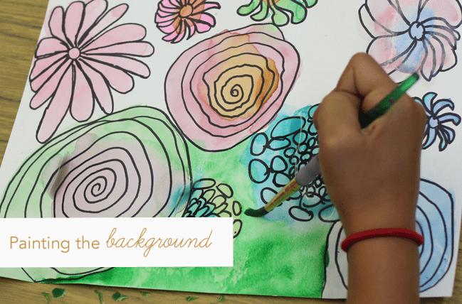 Watercolor-&-pen-flowers--background