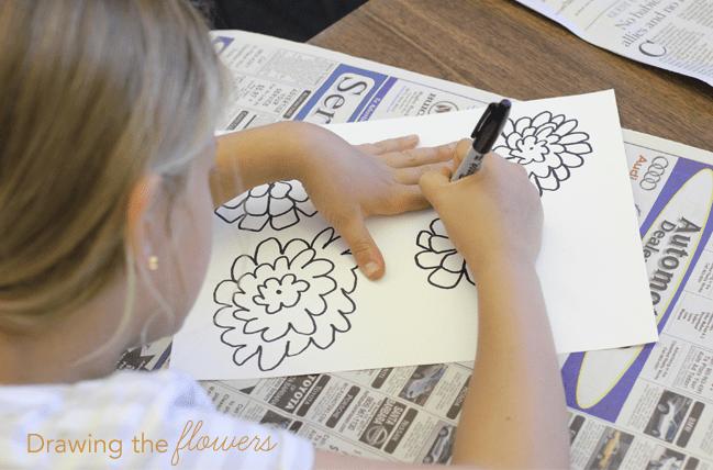 Watercolor-&-pen-flowers--drawing