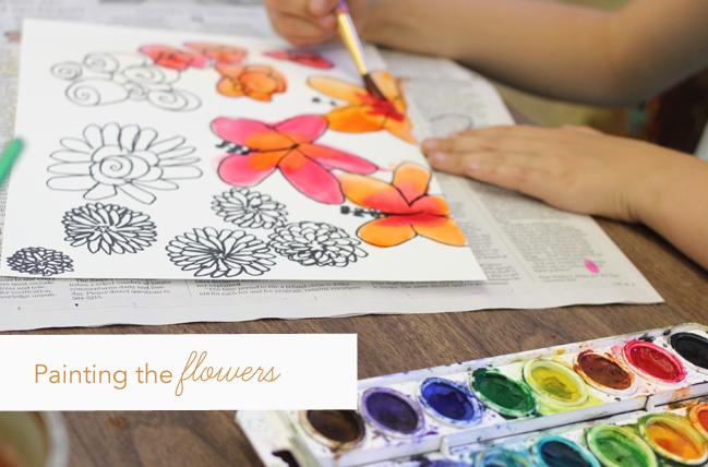 Watercolor-&-pen-flowers--painting-startegy