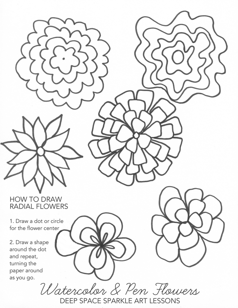 Easy Fall Drawings Drawing The Flowers