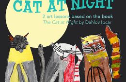 Cat at Night Art Project