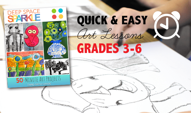 Quick Easy Art Lesson Pack Deep Space Sparkle