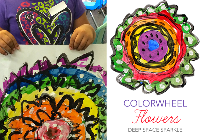 Colorwheel Flowers Art Lesson