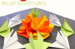 Origami Relief Sculptures