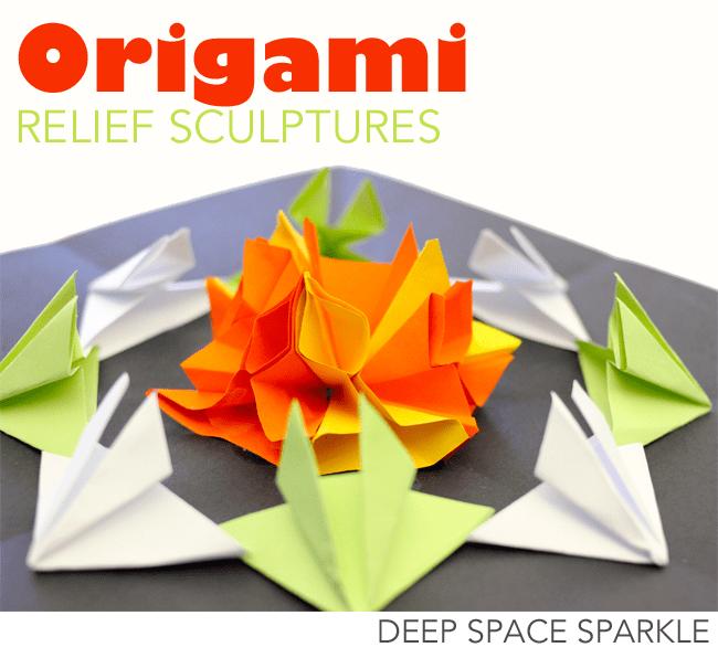 Origami Relief Sculptures Deep Space Sparkle