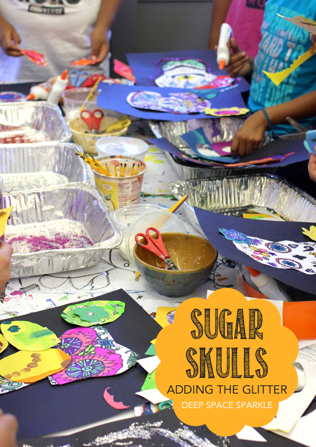 How to draw a symmetrical sugar skull using a cool tracing technique. Kids Day of the Dead art project