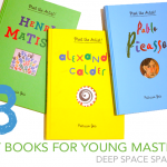 3 playful and interactive art books for the young artist or an art teacher's classroom library.