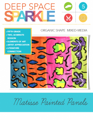 Henri Matisse was famous for his colorful, organic cut-outs. This video lesson details how to create colorful painted panels and decorate with a mixture of organic and geometric shapes.