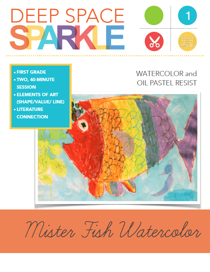 Mister Fish Collage Art Lesson & Video
