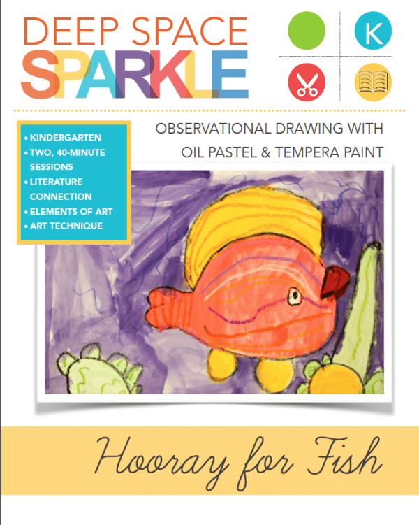Hooray for Fish Art Lesson & Video