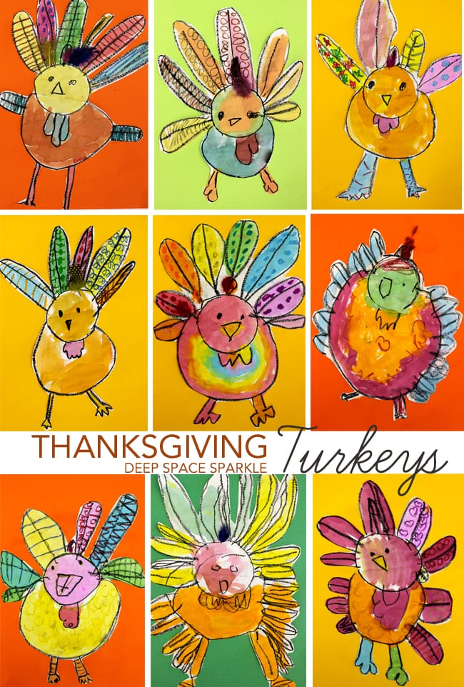 Thanksgiving Turkey Art Project for Kids