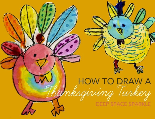 How to Draw a Thanksgiving Turkey for Kids