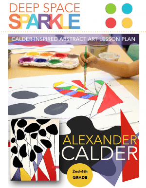 Children create a dynamic Alexander Calder-inspired piece of art