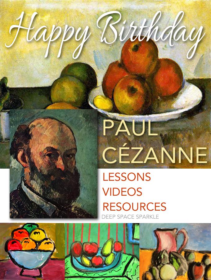 Happy Birthday Paul Cezanne Deep Space Sparkle