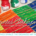 How to organize artwork using clothespins. Art Organization tips from Deep Space Sparkle