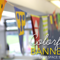 How to make colorful banners for your art room or studio.